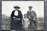 family during a vacation trip 1900s England