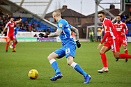 Peterborough Utd forward Marcus Maddison (21) on the attack during the EFL Sky Bet League 1 match between Peterborough United and Scunthorpe United at London Road, Peterborough, England on 1 January 2019.