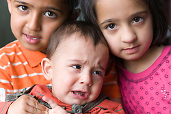 Different emotions amongst a group of siblings,