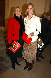 Left to right, SUSAN FERGUSON and her daughter ALICE FERGUSON at Carols from Christmas - a celebration of Christmas held at the Royal Hospital Chapel, Chelsea, London in aid of The Institute of Cancer Research on 5th December 2006.<br />
