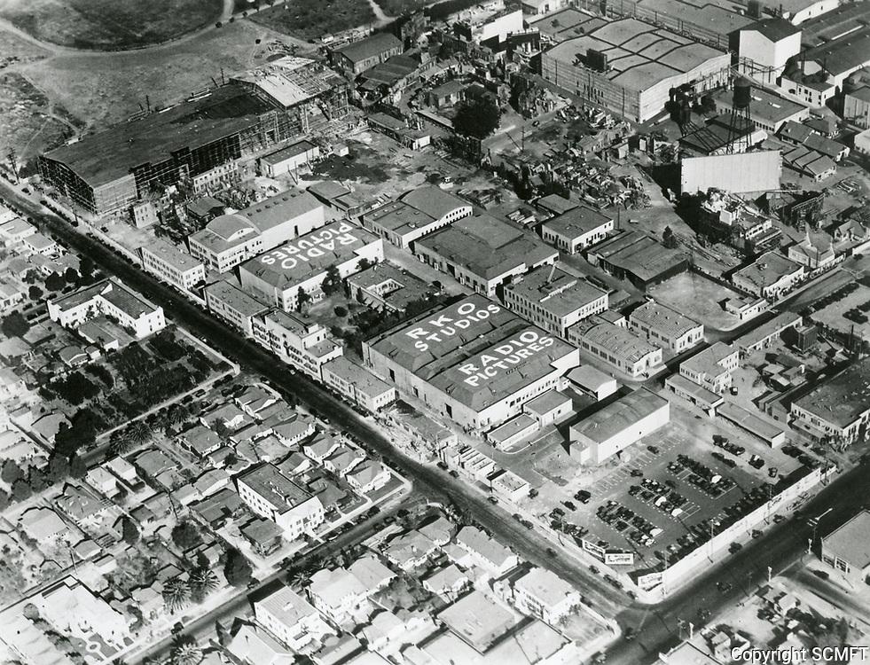1930 Aerial of RKO Radio Pictures Studios