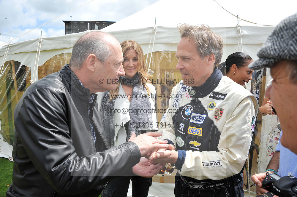Left to right, RON DENNIS and the EARL OF MARCH & KINRARA at a luncheon hosted by Cartier for their sponsorship of the Style et Luxe part of the Goodwood Festival of Speed at Goodwood House, West Sussex on 1st July 2012.