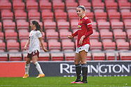 Manchester United Women midfielder Jackie Groenen (14)  gestures and reacts during the FA Women's Super League match between Manchester United Women and Arsenal Women FC at Leigh Sports Village, Leigh, United Kingdom on 8 November 2020.