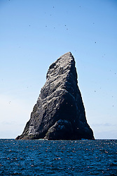 Stac an Armin, is a sea stack in the St Kilda archipelago. It is 196 metres (643 ft.) tall, qualifying it as a Marilyn. It is the highest sea stack in Scotland and the British Isles..St Kilda archipelago, west-northwest of North Uist in the North Atlantic Ocean. It is one of Scotland's five World Heritage Sites..©Michael Schofield..