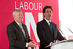 © Licensed to London News Pictures. 22/03/2016. London, UK. ED MILIBAND answers questions with ALAN JOHNSON after making a speech about the European Union (EU) at the Coin Street Neighbourhood Centre in London. His speech at the 'Labour in for Britain' event warned against EU exit (Brexit) and set out the case why the UK should remain in the EU. The referendum on Britain's membership of the EU takes place on 23 June 2016. Photo credit : Vickie Flores/LNP