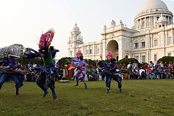 November 22, 2018 - Kolkata, West Bengal, India - Indian flock artist perform at the World Heritage Week celebration at Victoria memorial on November 22, 2018 in Kolkata, India. (Credit Image: © Debajyoti Chakraborty/NurPhoto via ZUMA Press)