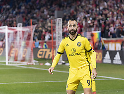 STYLEPREPENDJustin Meram (9) of Columbus Crew SC watches the ball during 2nd leg MLS Cup Eastern Conference semifinal game against Red Bulls at Red Bul Arena Red Bulls won 3 - 0 agregate 3 - 1 and progessed to final  (Credit Image: © Lev Radin/Pacific Press via ZUMA Wire)