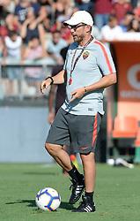 July 19, 2018 - Rome, Italy - Eusebio Di Francesco  head coach of AS Roma during training session open to the fans of A.S. Roma,  pre-season retreat at Stadio Tre Fontane on july 19, 2018 in Rome, Italy. (Credit Image: © Silvia Lore/NurPhoto via ZUMA Press)