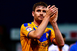 Joe Riley celebrates of Mansfield Town celebrates at full time - Mandatory by-line: Ryan Crockett/JMP - 25/01/2020 - FOOTBALL - One Call Stadium - Mansfield, England - Mansfield Town v Bradford City - Sky Bet League Two