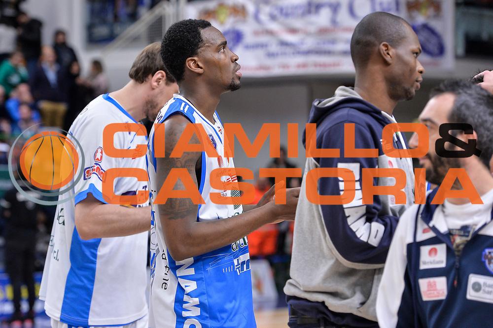 DESCRIZIONE : Beko Legabasket Serie A 2015- 2016 Dinamo Banco di Sardegna Sassari - Sidigas Scandone Avellino<br /> GIOCATORE : Jarvis Varnado<br /> CATEGORIA : Ritratto Delusione Postgame<br /> SQUADRA : Dinamo Banco di Sardegna Sassari<br /> EVENTO : Beko Legabasket Serie A 2015-2016<br /> GARA : Dinamo Banco di Sardegna Sassari - Sidigas Scandone Avellino<br /> DATA : 28/02/2016<br /> SPORT : Pallacanestro <br /> AUTORE : Agenzia Ciamillo-Castoria/L.Canu