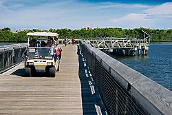 1, 600-foot boardwalk, spanning across Lake Worth, a preserved pristine estuary, John D. MacArthur Beach State Park, North Palm Beach, Florida