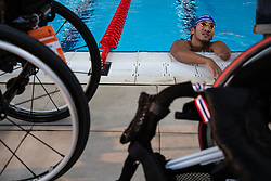 October 11, 2018 - Jakarta, Jakarta, Indonesia - Jakarta, Indonesia, 11 October 2018 : An Thailand athlete paraswimming during practice. Paraswim compettition at Aquatic Building in Gelora Bung Karno Jakarta on Asian Paragames 2018 Competition. (Credit Image: © Donal Husni/ZUMA Wire)