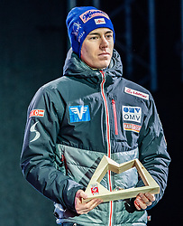 23.02.2019, Medal Plaza, Seefeld, AUT, FIS Weltmeisterschaften Ski Nordisch, Seefeld 2019, Skisprung, Herren, Siegerehrung, im Bild Stefan Kraft (AUT) // Stefan Kraft of Austria during the winner Ceremony for the men's ski jumping of FIS Nordic Ski World Championships 2019 at the Medal Plaza in Seefeld, Austria on 2019/02/23. EXPA Pictures © 2019, PhotoCredit: EXPA/ Stefan Adelsberger