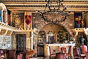 Luxury boutique hotel bar, Chateau Eza, Eze, Cote d'Azur, France