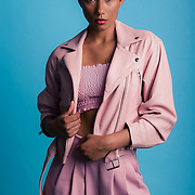 Studio fashion shoot with Los Angeles model, Salana. Images made at FD Photo Studios on June 30, 2018 in Downtown Los Angeles, California.  ©Michael Der