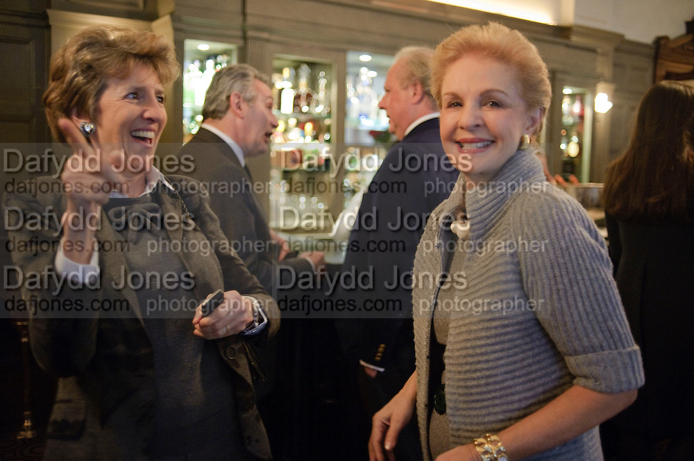 JANE CHURCHILL; CAROLINA HERRERA;, Graydon and Anna Carter host a lunch for Carolina Herrera to celebrate the ipening of her new shop on Mount St. .The Connaught. London. 20 January 2010
