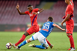 September 15, 2018 - Arkadiusz Milik of SSC Napoli challenges Bryan Dabo of ACF Fiorentina during the Serie A match between Napoli and Fiorentina at Stadio San Paolo, Naples, Italy on 15 September 2018. Photo by Giuseppe Maffia. (Credit Image: © AFP7 via ZUMA Wire)