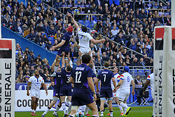 February 23, 2019 - Saint Denis, Seine Saint Denis, France - The Flanker of French Team ARTHUR ITURRIA in action during the Guinness Six Nations Rugby tournament between France and Scotland at the Stade de France - St Denis - France..France won 27-10 (Credit Image: © Pierre Stevenin/ZUMA Wire)