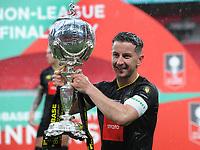 Football - 2019 / 2020 Buildbase FA Trophy - Final - Concord Rangers vs Harrogate Town - Wembley Stadium<br /> <br /> Harrogate Captain, Josh Falkingham with the trophy<br /> <br /> Credit : COLORSPORT/ANDREW COWIE