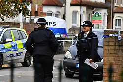 ©Licensed to London News Pictures; 24/10/2020, London UK; Met Police Launch a murder investigation in Walthamstow after a 17 year old male was found in Westbury road with stab wounds at around 9.30 on Friday evening, he was pronounced dead at the scene: Photo credit, Steve Poston/LNP