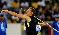 Friidrett<br /> IAAF Diamond League 2013<br /> Doha 10.05.2013<br /> Foto: imago/Digitalsport<br /> NORWAY ONLY<br /> <br /> Czech Republic s Vitezslav Vesely competes during the men s javelin final at the IAAF Diamond League in Doha, capital of Qatar, May 10, 2013. Vesely claimed the title of the event with 85.09 metres.