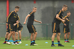 September 5, 2018 - Tubize, BELGIUM - Belgium's Leander Dendoncker, Belgium's Timothy Castagne and Belgium's Thomas Meunier pictured during a training session of Belgian national soccer team the Red Devils in Tubize, Wednesday 05 September 2018. The team is preparing for a friendly match against Scotland on 07 September and the UEFA Nations League match against Iceland on 11 September. BELGA PHOTO BRUNO FAHY (Credit Image: © Bruno Fahy/Belga via ZUMA Press)