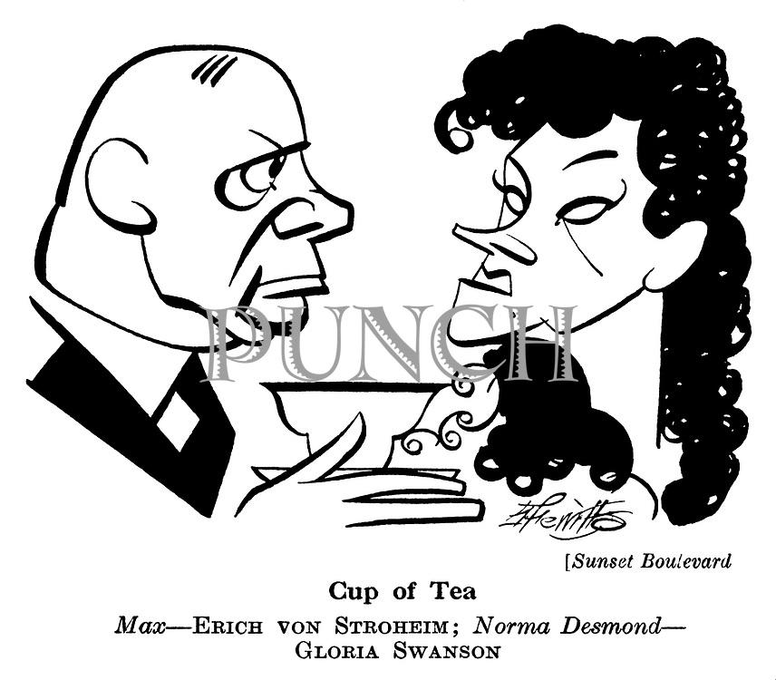 Sunset Boulevard ; Gloria Swanson and Eric von Stroheim