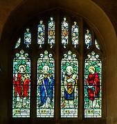 Stained glass window St Michael and All Angels church, Melksham, Wiltshire, England, UK 1905 James Powell