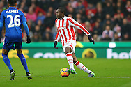 Gianelli Imbula of Stoke City in action. Premier league match, Stoke City v Leicester City at the Bet365 Stadium in Stoke on Trent, Staffs on Saturday 17th December 2016.<br /> pic by Chris Stading, Andrew Orchard sports photography.