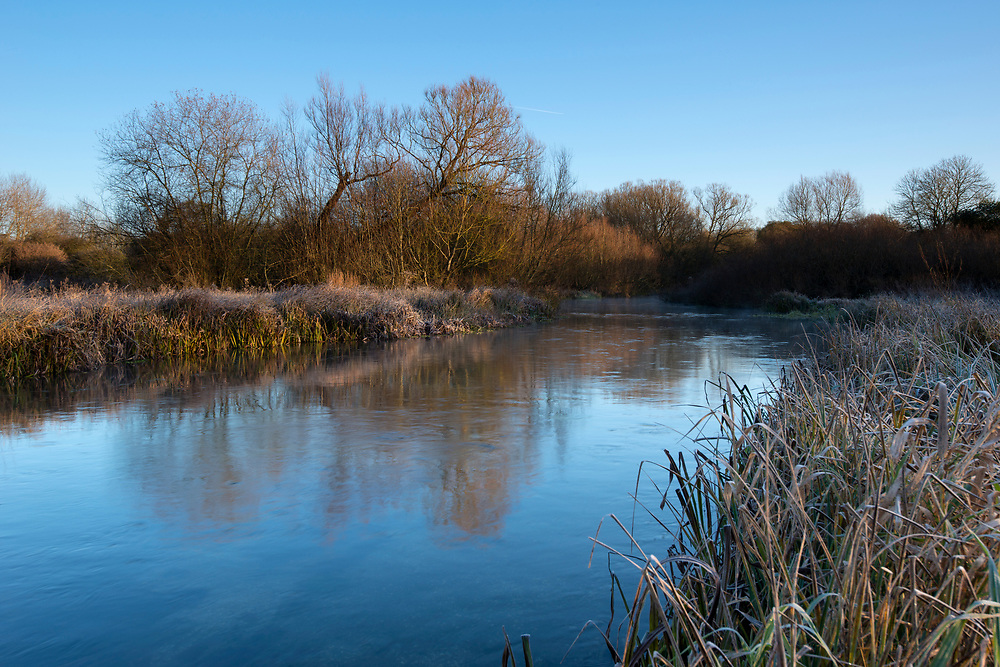 Winter on the River Test at Longparish, Hampshire.