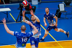 Luke Herr of Lycurgus in action during the cup final between Amysoft Lycurgus vs. Draisma Dynamo on April 18, 2021 in sports hall Alfa College in Groningen