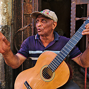 The tiny apartment of a very cheerful elderly musician living at Centro Havana.