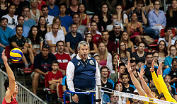 09.06.2017, TipsArena, Linz, AUT, FIVB, World League, Mexiko vs Spanien, Division III, Gruppe C, Herren, im Bild Feature Schiedsrichter // Feature Schiedsrichter during the men's FIVB, Volleyball World League, Division III, Group C match between Mexico and Spain at the TipsArena in Linz, Austria on 2017/06/09. EXPA Pictures © 2017, PhotoCredit: EXPA/ JFK