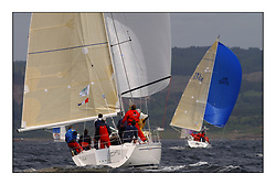 Yachting- The first days inshore racing  of the Bell Lawrie Scottish series 2002 at Tarbert Loch Fyne. Near perfect conditions saw over two hundred yachts compete. <br />Elanor Elan 333 3331C and 2 Sassy Sunfast 37 IRL3702 class 3 overall winner<br /><br />Pics Marc Turner / PFM