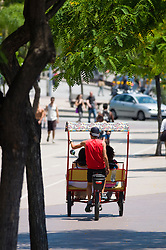 Rickshaw Tricycle tour tourists guide summer