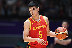 JAKARTA, Sept. 1, 2018  Fang Shuo of China competes during men's basketball final between China and Iran at the 18th Asian Games 2018 in Jakarta, Indonesia, Sept. 1, 2018. (Credit Image: © Huang Zongzhi/Xinhua via ZUMA Wire)