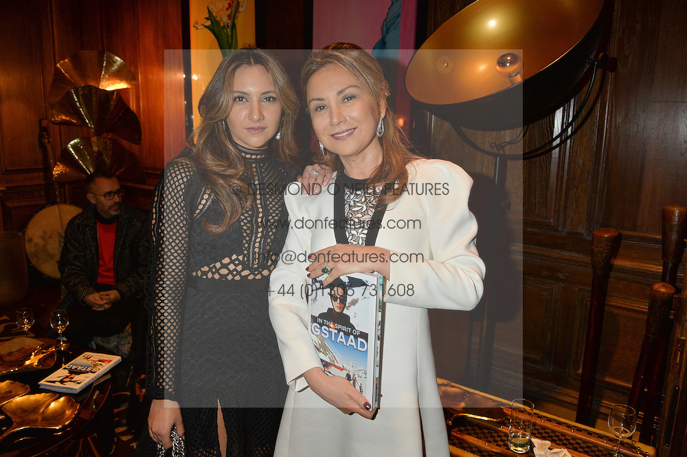 ***UK_MAGAZINES_OUT***<br /> LONDON, ENGLAND 30 NOVEMBER 2016: <br /> Left to right, Tara Sahni, Homera Sahni at the launch of In The Spirit of Gstaad at Maison Assouline, Piccadilly, London hosted by Mandolyna Theodoracopulos and Homera Sahni England. 30 November 2016.