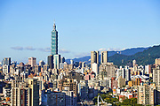 Taipei 101 dominates the city skyline. The 508m tall building was formerly the world's tallest inhabited building, and after receiving a platinum rating under the LEED certification system, is currently the world's tallest green building.