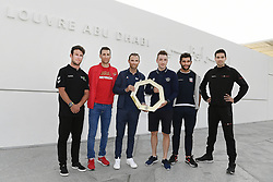 February 23, 2019 - Abu Dhabi - Foto LaPresse - Fabio Ferrari.23 Febbraio 2019 Abu Dhabi (Emirati Arabi Uniti).Sport Ciclismo.UAE Tour 2019 - Foto di gruppo Top Riders.Nella foto: Mark Cavendish, Vincenzo Nibali, Alejandro Valverde, Elia Viviani, Fernando Gaviria, Tom Dumoulin..Photo LaPresse - Fabio Ferrari.February 23, 2019 Abu Dhabi (United Arab Emirates) .Sport Cycling.UAE Tour 2018 - Top rider group photo.In the pic: Mark Cavendish, Vincenzo Nibali, Alejandro Valverde, Elia Viviani, Fernando Gaviria, Tom Dumoulin (Credit Image: © Fabio Ferrari/Lapresse via ZUMA Press)