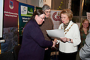 Galway launches 200 Gatherings ! Come home to Irelands Cultural Heart  with help of  Anne and John Neville Buffallo Times receive their Galway  Gathering Certificate from Galway City Mayor Terry O Flaherty  at Aras An Contae. Picture Andrew Downes.