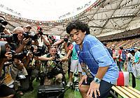 Fotball<br /> OL 2008 Beijing<br /> Nigeria v Argentina Finale<br /> 22.08.2008<br /> Foto: Witters/Digitalsport<br /> NORWAY ONLY<br /> <br /> Diego Maradona Argentinien als Zuschauer<br /> Olympische Spiele Peking 2008, Fussball Herren Finale Nigeria - Argentinien 0:1<br /> <br /> BILDET INNGÅR IKKE I OL-FASTAVTALER