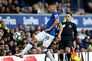Everton forward Richarlison (30) during the Premier League match between Everton and Chelsea at Goodison Park, Liverpool, England on 17 March 2019.