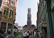 Belgie, Brugge, 3-9-2005Centrum van de stad met het belfort. Architectuur, monumenten, stadsgezichtBelgium, stedentrip, toerisme, tourism.Foto: Flip Franssen/Hollandse Hoogte
