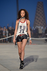 Selena Forrest walks the runway at the TommyLand Tommy Hilfiger Spring 2017 Fashion Show on February 8, 2017 in Venice, Los Angeles, CA, USA. Photo by Lionel Hahn/ABACAPRESS.COM