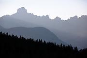 Smoky haze in Glacier National Park