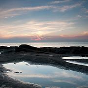 Sunset at Halibut Point State Park, Rockport, Massachusetts