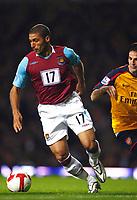 Hayden Mullins. ( West Ham )  West Ham United Vs Arsenal at Upton Park Barclays Premiership. 26/10/2008. Credit Colorsport / Kieran Galvin