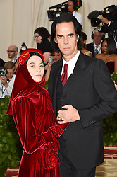 Nick Cave and Susie Bick attending the Costume Institute Benefit at The Metropolitan Museum of Art celebrating the opening of Heavenly Bodies: Fashion and the Catholic Imagination. The Metropolitan Museum of Art, New York City, New York, May 7, 2018. Photo by Lionel Hahn/ABACAPRESS.COM