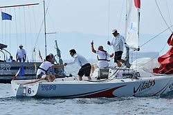 The Iehl Pro-Am team celebrate winning the Partners Race. Photo: Chris Davies/WMRT