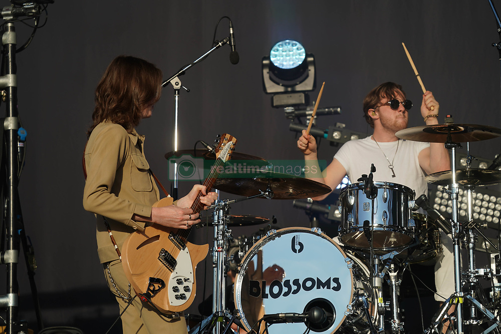 Blossoms performing live on the Main Stage at the 2017 Reading Festival. Photo date: Sunday, August 27, 2017. Photo credit should read: Richard Gray/EMPICS Entertainment